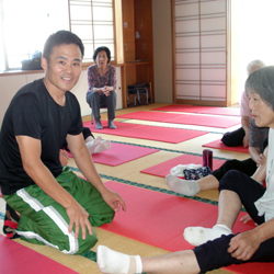 2015年7月10日六郷長寿センターお灸教室1